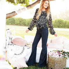 Always a fan of flare jeans.  I love these Lauren Conrad jeans for casual days at work, and the lighter wash is great for summer.