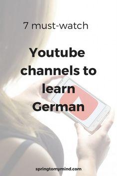 youtube channels for learning German   Learn German on youtube   German learning sources   German for beginners   Learn German   German vocabulary   German grammar