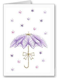 flower shower stitch card pattern