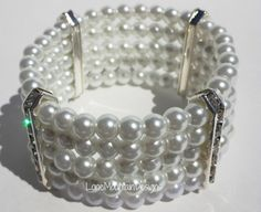 Pearl Cuff by LoneMountainDesigns on Etsy, $20.00