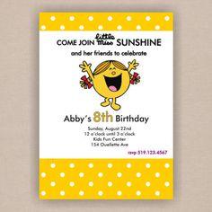 Little Miss Sunshine Birthday Party Invitation by DistInkDesigns, $16.45