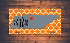 This item is unavailable Monogram License Plate, Front License Plate, License Plates, Car Tags, Personalized Gifts, Handmade Gifts, Silhouette Projects, Custom Cars, Tennessee