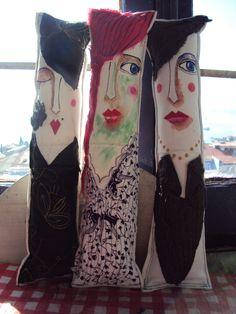 Munecas de Trapo, pintadas a mano por Denise Quijada.