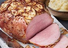 Image: Ginger beer and pear-glazed gammon