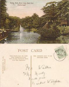 Ramsdale Valley, Scarborough, Yorkshire: Edwardian Postcards Scarborough England, Valley Park, Yorkshire, Pond, Postcards, Prints, Water Pond, Yorkshire Terrier Puppies, Garden Ponds
