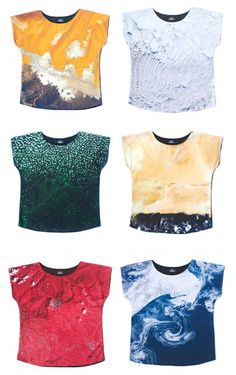 Could use imagery/pattern from company website to create a fashionable top