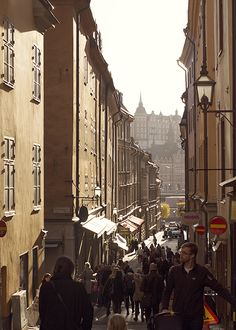 Street in Stockholm old town