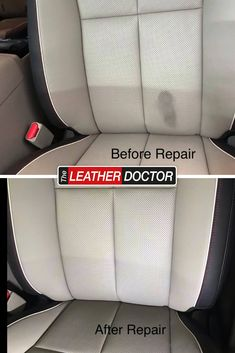 Don't let your leather seats stay stained and discoloured - give us a call and we'll help it look like new again! Leather Repair, Leather Seats, Leather Cleaning, Car Seats, Finding Yourself, Car Seat, Soul Searching