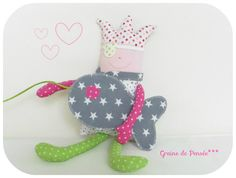 "doudou lutin ' Little Miss pirate"" et son p'tit poisson ! : Jeux, jouets par graine-de-pensee"