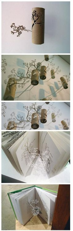 such a great way to create art from such a common object - those cardboard tube inside toilet paper rolls