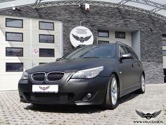 BMW 5 : zmiana koloru auta folia : czarny mat + dodatki w carbonie : oklejanie : Krucza18 : Osielsko/k.Bydgoszczy