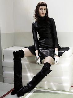 Kati Nescher by Josh Olins. Edgy hair, edgy outfit.. we like...