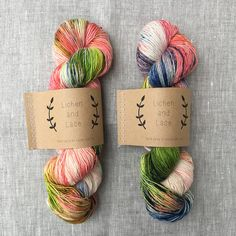 Marsh Lily ~ Lichen and Lace Hand Dyed Yarn