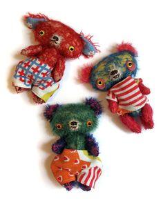 miniature mohair bears
