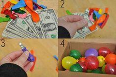 Money balloons