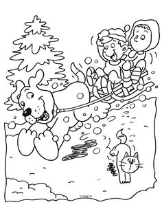 112 beste afbeeldingen winter kleurplaten coloring