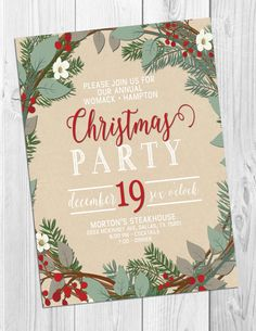 Christmas Party Invitation by StudioFourty60 on Etsy