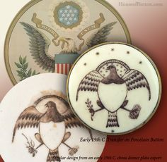 Mini USA History Lesson: Time Travel with Buttons. . . and the Eagle Flew. Thanks to folks at Armchair Auctions and their website. #buttonlovers