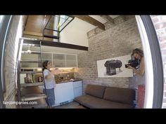 San Francisco brick boiler room turned industrial tiny house - has lots of clever ideas on using small, irregular spaces