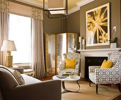 Whether you paint the ceiling, repeat a pattern or accent color, or simply edit out the superfluous items in the room, little details can bring about polish to your design: http://www.bhg.com/rooms/living-room/room-arranging/living-room-designs/?socsrc=bhgpin111814notethedetails&page=6