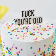 Adult Birthday Candle, F**k You're Old Naughty Candle, Birthday Cake Decorations, Adult Theme Birthday Decorations by WendysFunkyRibbon on Etsy Online Party Supplies, Kids Party Supplies, Catering, Happy Birthday Messages, Birthday Wishes, Free Birthday, Party Set, Old Candles, Birthday Cake With Candles