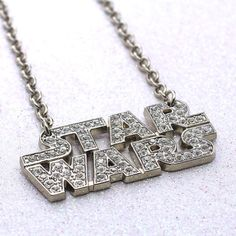 Rock Rebel x Star Wars rhinestone logo necklace