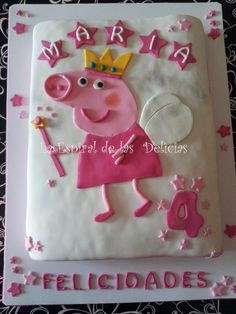 Easy fondant cake for Bella's party!