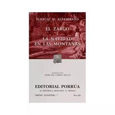 Libro El Zarco - $ 48.00