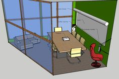 FRA needs a group meeting space--this smallish conference room, walled with glass, is multi-purpose in nature--conferences, parent groups, student study groups, workshops, yearbooks, student council, small class accommodation, etc...