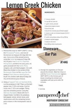 Pampered Chef Party, Pampered Chef Recipes, Chef Images, Pampered Chef Stoneware, One Pan Meals, Greek Recipes, Food Hacks, Chicken Recipes, Healthy Recipes