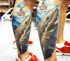 Shark tattoo by Vasilii Suvorov | Post 20608