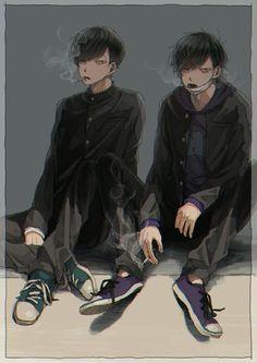 Osomatsu San Doujinshi, Ichimatsu, Brother, Naver, Anime, Fictional Characters, Cartoon Movies, Anime Music, Fantasy Characters