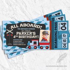 Train Ticket Birthday Invitations