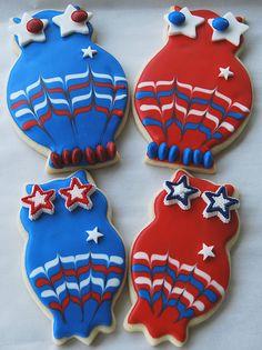 patriotic owl cookies