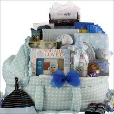 Best Wishes!: Baby Boy Gift Basket