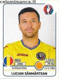 UEFA EURO 2016™ Official Sticker Album: Fronte Figurina n. 59 Lucian Sânmărtean