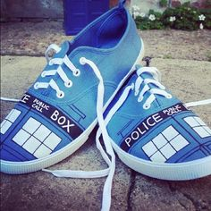 Love these Dr Who Tardis shoes