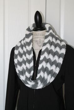 Handmade Chevron Infinity Scarf  Cowl  Women by SnugableTouches, $15.00