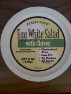 Trader Joe's Egg White Salad w/Chives, 1 point, 1 point plus per 1/2 container