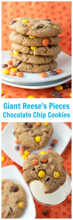 Giant Reese's Pieces Chocolate Chip Cookies are the best dessert ...