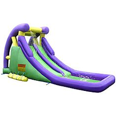 @Overstock.com - Give your kids an excuse to spend more time outside with this sturdy inflatable water slide. The slide attaches to your water hose, providing hours of fun, and it comes with its own patch kit for accidents.          http://www.overstock.com/Sports-Toys/KidWise-Double-Slide-Inflatable-Water-Slide/5880286/product.html?CID=214117 $354.99
