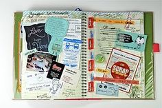 "This is like scrapbooking without the planning and formality!  Love it! You ""smash"" stuff in there and you're done!"