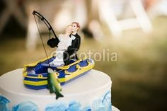 Fishing Wedding Cake Topper By Paul Retherford Royalty Free Stock