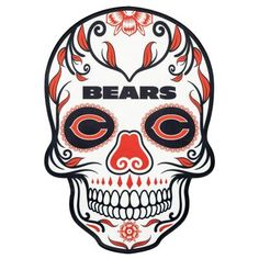 Applied Icon NFL Chicago Bears Outdoor Skull Graphic- Large - The Home Depot Nfl Chicago Bears, Bears Football, Nfl Dallas Cowboys, Chicago Bears Tattoo, Chicago Football, Cincinnati Bengals, Houston Texans, Chicago Blackhawks, Chicago Bears Wallpaper