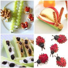 Cutest Bug Theme Healthy Snacks for Kids The Cutest Bug Theme Healthy Snacks for Kids - Fantastic Fun amp; LearningThe Cutest Bug Theme Healthy Snacks for Kids - Fantastic Fun amp; Healthy School Snacks, Healthy Foods To Eat, Healthy Kids, Healthy Classroom Snacks, Health Snacks, Bug Snacks, Fruit Snacks, Class Snacks, Snacks Kids