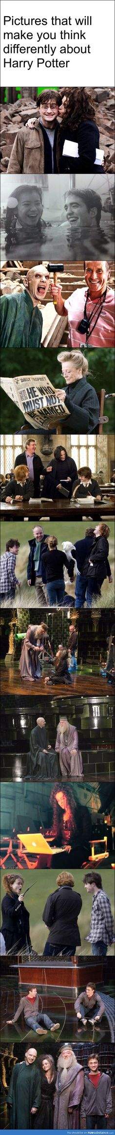 Harry potter world .. pictures that make you think differently about Harry Potter