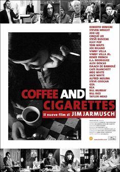 DVD CINE 324 - Coffe and cigarretes (2003) EEUU. Dir: Jim Jarmusch. Comedia. Cine independente. Sinopse: a película esta composta de pequenas historias curtas filmadas en branco e negro nas que se pode ver aos personaxes discutindo e falando sobre temas cotiáns, co fin en común de tomar café e fumar.