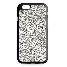 Kitty White Pattern iPhone 4/4S/5/5S/5C/6/6S/6+/6S+ Heavy Duty Case