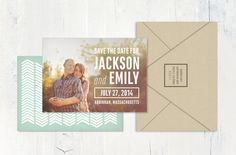 Save the Date Card by myaugustpress on Etsy, $1.90