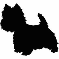 West Highland White Terrier Silhouette Photo Cutout